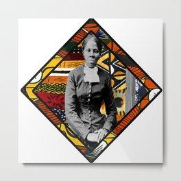 Tubman Afro Diamond Metal Print