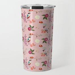 Eastern delight Japanese garden, pink. Travel Mug