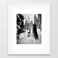 pagan Framed Art Prints featuring Pagan forest by Kristina Haritonova