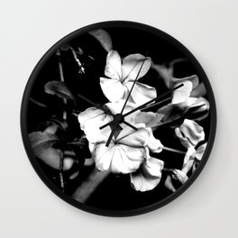 Cape Plumbago Wall Clock