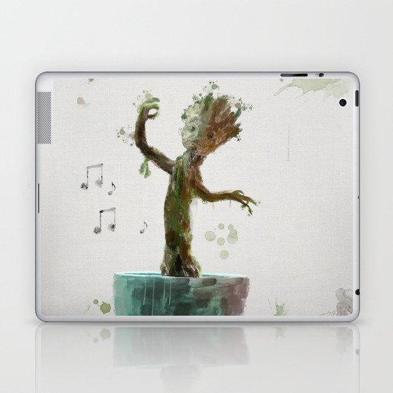 Baby Groot Laptop Ipad Skin By Scofielddesigns