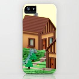 voxel hamlet iPhone Case