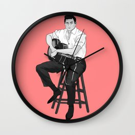 Young Johnny Cash Wall Clock