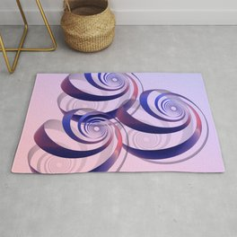 connected spirals Rug