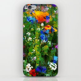 Colorful Spring Flowers iPhone Skin