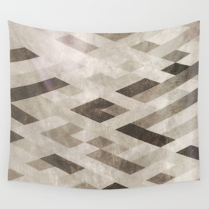 Abstract Pattern in Subtle Wall Tapestry