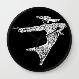 Inverted. Grace & Manners Logo Wall Clock