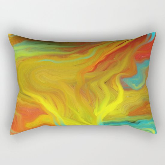 AGATE ABSTRACT OIL PAINTING Rectangular Pillow