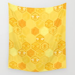 Dance of Bees Wall Tapestry