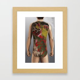 kirin bodysuit tattoo design Framed Art Print