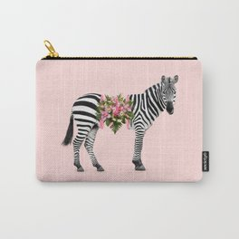 FLORAL ZEBRA Carry-All Pouch