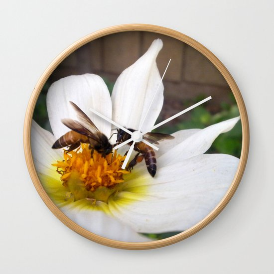 Bees at Work Wall Clock