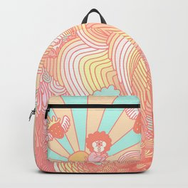 Cotton Candy Cyclops Dream: Peach (2 of 4) Backpack