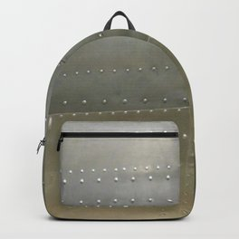 Vintage Aircraft Silver Fuselage Backpack