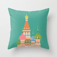 moscow Throw Pillows featuring Moscow by Chay Lazaro