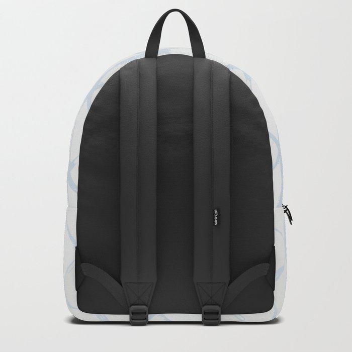 Simply Braided Chevron Sky Blue on Lunar Gray Backpack