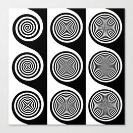 Liquorice wheels Canvas Print