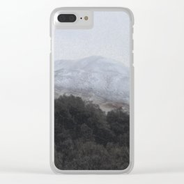 Away, away to the hills and the heart Clear iPhone Case