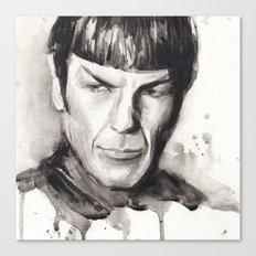 Spock Watercolor Portrait Canvas Print