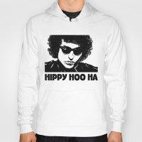 bob dylan Hoodies featuring Bob Dylan by Hippy Hoo Ha