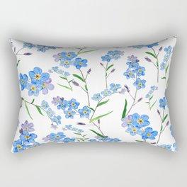 forget me not Rectangular Pillow