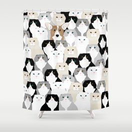 Cats and Dog Shower Curtain