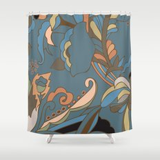 Modern Abstract Shapes Shower Curtain