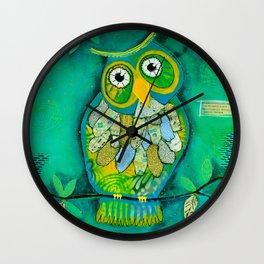 """Wisdom Owl"" Wall Clock"