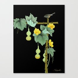 Squash Vine and Bird Canvas Print