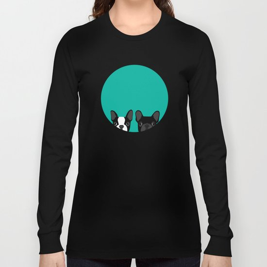 Boston Terrier and French Bulldog Long Sleeve T-shirt