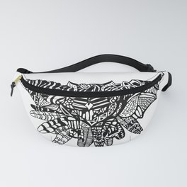 Dragon Owl (BW) Fanny Pack
