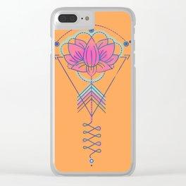 Symbol Art:  Lotus Magic Clear iPhone Case