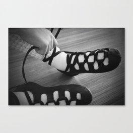 Little girl irish dancing soft shoes Canvas Print