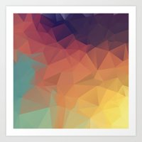 polygon Art Prints featuring Polygon by Zhavorsa