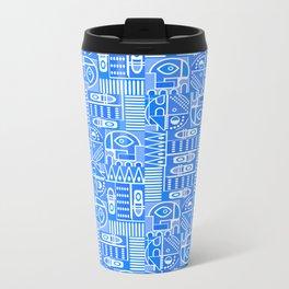 GeoPrint Pattern Metal Travel Mug