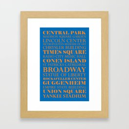 New York City - Basketball Framed Art Print