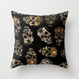 skull family Throw Pillow