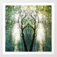 Bamboo Forest Geometry Art Print