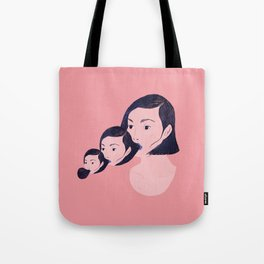 Blowing myself back and forth Tote Bag