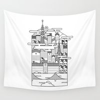 tokyo Wall Tapestries featuring TOKYO by Design Made in Japan