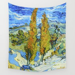 The Poplars at Saint-Rémy (1889) by Vincent Van Gogh Wall Tapestry