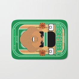 Basketball Green - Court Dunkdribbler - Seba version Bath Mat