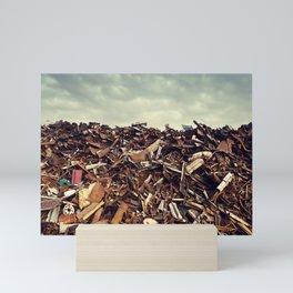 Scrapmetal Skies Mini Art Print