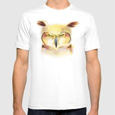 Angry Owl Mens Fitted Tee White SMALL
