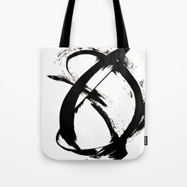 Brushstroke 7: a minimal, abstract, black and white piece Umhängetasche