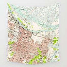 Vintage Map of Savannah Georgia (1955) Wall Tapestry
