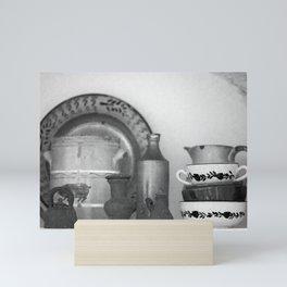 Pottery still life Mini Art Print
