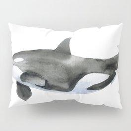 Orca Killer Whale Watercolor Pillow Sham