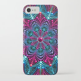 Mandala painting on canvas iPhone Case