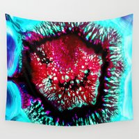 pop art Wall Tapestries featuring pop by haroulita